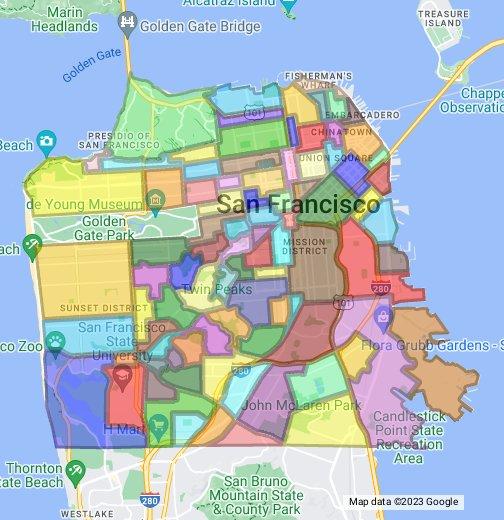 San Francisco Neighborhoods Map San Francisco Neighborhood Maps   Google My Maps