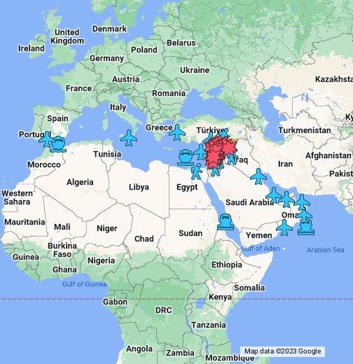 szíriai háború térkép SZÍRIA TÉRKÉP   Google My Maps