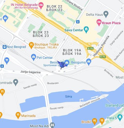 jurija gagarina beograd mapa Berlitz   Novi Beograd   Google My Maps jurija gagarina beograd mapa
