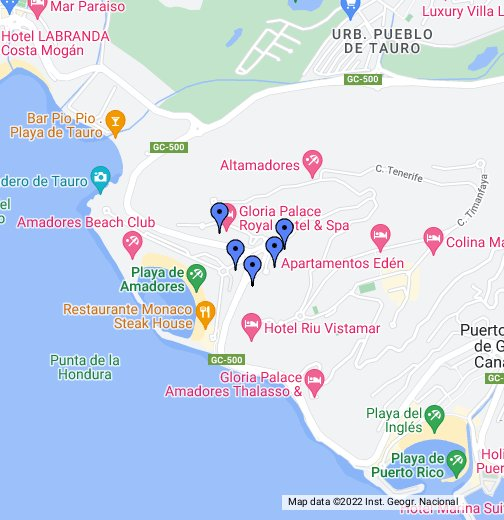 Amadores Hotels Google My Maps