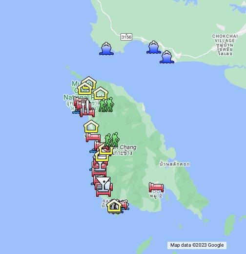 Koh Chang Thailand Map.Koh Chang Google My Maps
