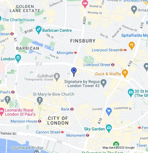 ICAEW London   Google My Maps