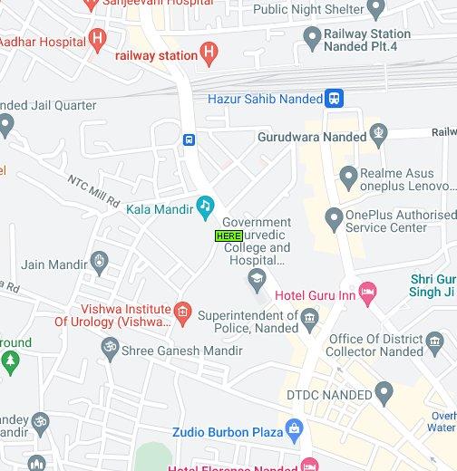 Map Of Nanded Maharashtra India Google My Maps