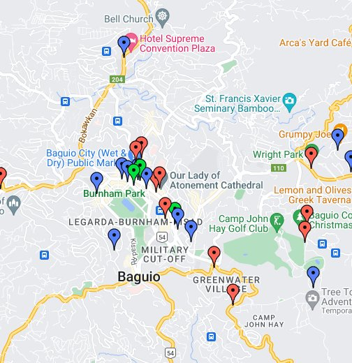 Baguio Guide Map Co Baguioguidecom - Baguio map