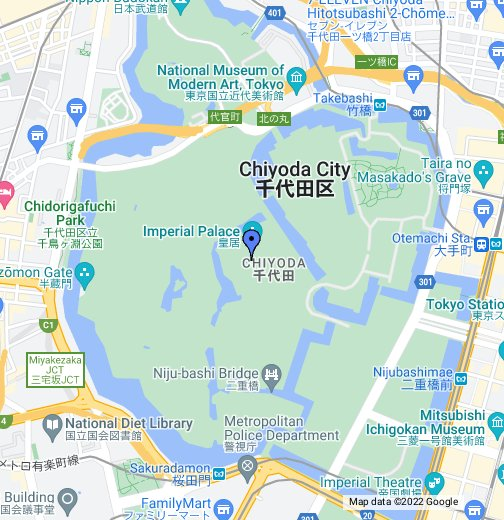 Tokyo Imperial Palace - Google My Maps
