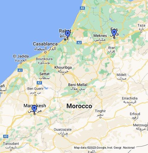 mapa marrocos Marrocos   Google My Maps mapa marrocos