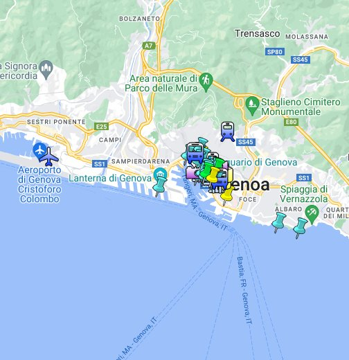 Italien Karta Genova.Genoa Genova Tourist Map Google My Maps