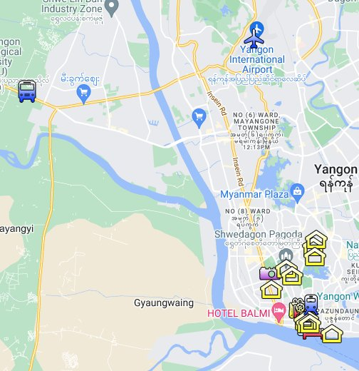 Yangon, Myanmar - Google My Maps on great wall of china map, myanmar map, hanoi map, mekong river map, murang'a map, jakarta map, kuala lumpur map, rangoon map, taipei map, taiohae map, bangkok map, yangtze river map, bumthang map, islamabad map, bandar seri begawan map, vientiane map, naypyidaw map, burma map, hong kong map, manila map,