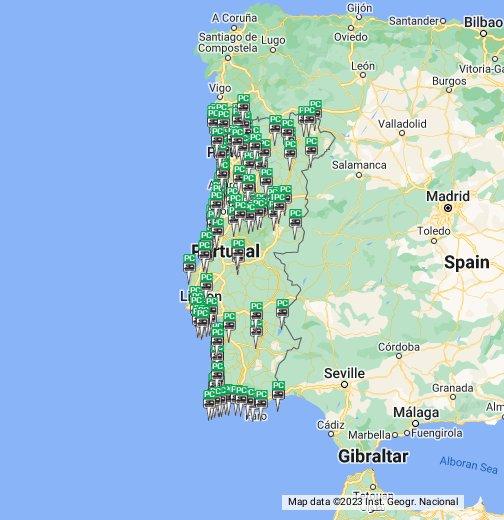 mapa de campismo portugal Parques de Campismo Portugal   Google My Maps mapa de campismo portugal