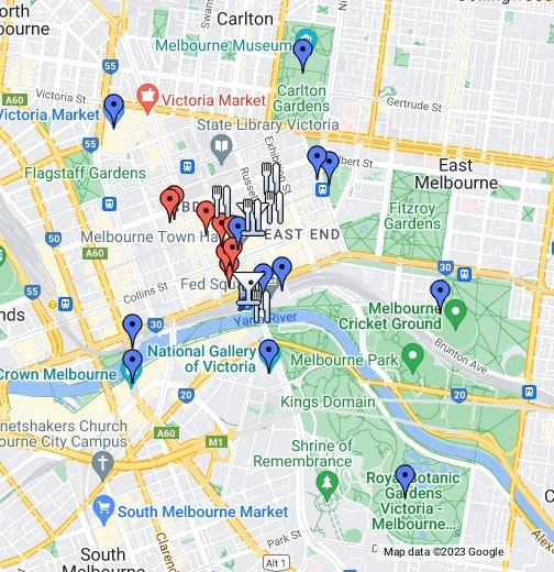 Map Of Melbourne Cbd Map of Melbourne CBD – Google My Maps Map Of Melbourne Cbd