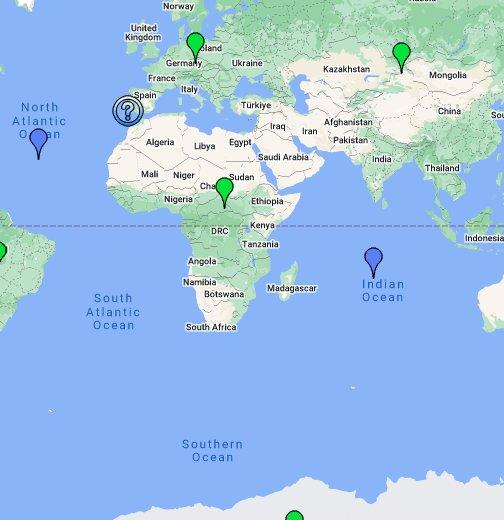 karta sveta google Karta svijeta – Google moje karte karta sveta google