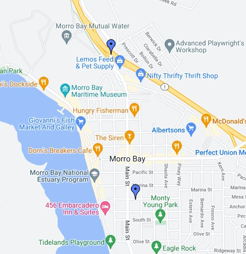 Morro Bay Map Map: Morro Bay   Google My Maps