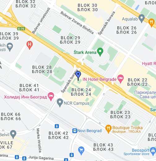 blok 22 novi beograd mapa Belgrade Arena   by belgradenet.  Google My Maps blok 22 novi beograd mapa