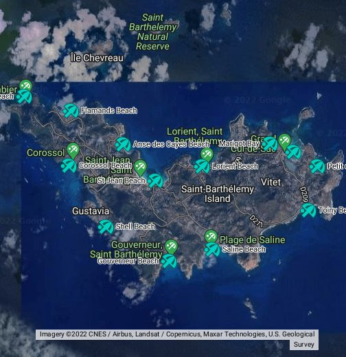 St Barth Properties Map Of St Barthelemy Beaches - Saint barthelemy map