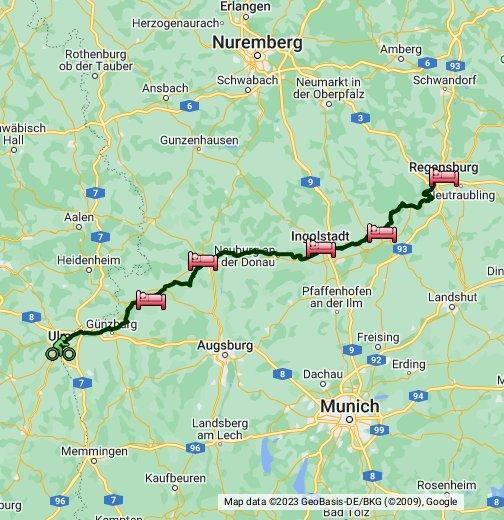 Donauradweg Ulm Passau Karte.Donauradweg 1 Google My Maps