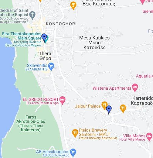 Tabasco Restaurant Fira & Karterados Santorini Google My Maps