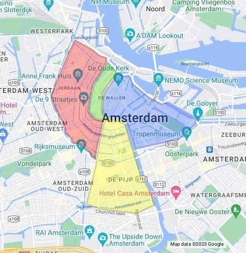 Cartina Amsterdam.Zone Di Amsterdam Google My Maps