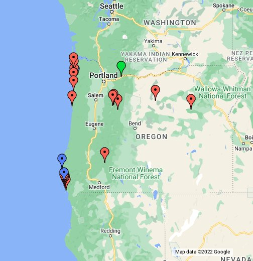 Google Oregon Map.Selected Oregon Natural Arches Google My Maps