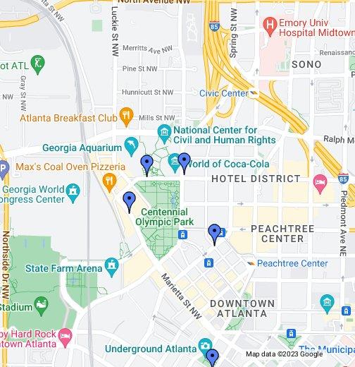 Georgia Aquarium - Ga map google