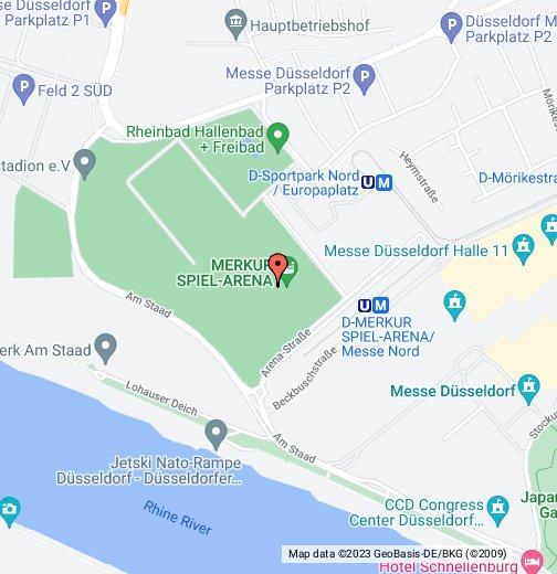 il posto düsseldorf karte ESPRIT Arena Düsseldorf – Google My Maps
