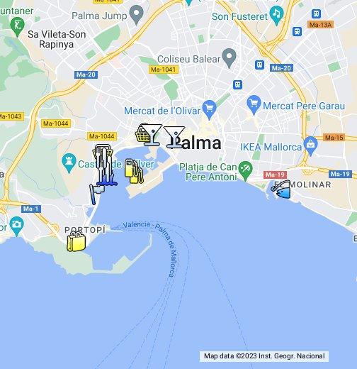kart over mallorca google Palma de Mallorca   Google My Maps kart over mallorca google