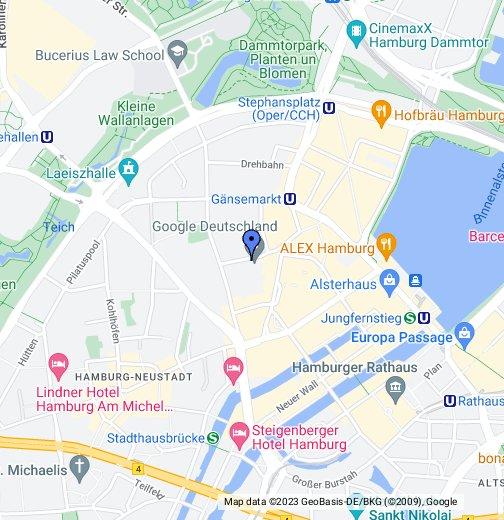 Google Hamburg - Google My Maps on