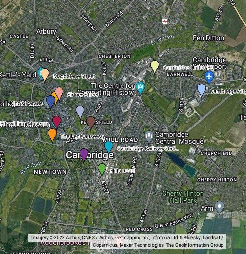 Cambridge - Google My Maps on