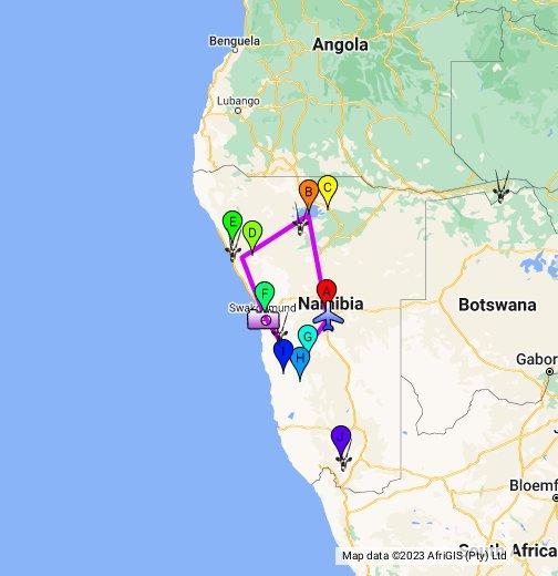 Karte Namibia Download.Namibia Google My Maps