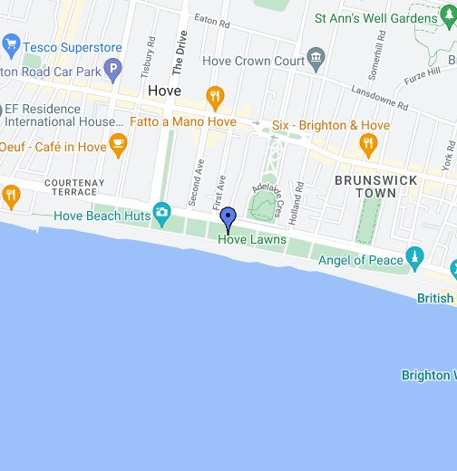 Map Of Hove Hove   Lawns Cafe   Google My Maps Map Of Hove