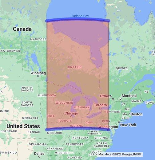 Width Of Hudson Bay Google My Maps