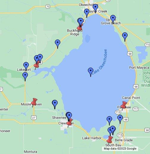 Lake Okeechobee Google My Maps