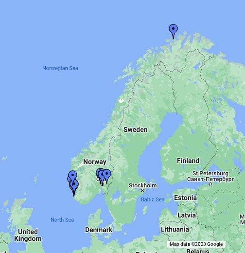 Erdgastankstellen In Norwegen Google My Maps