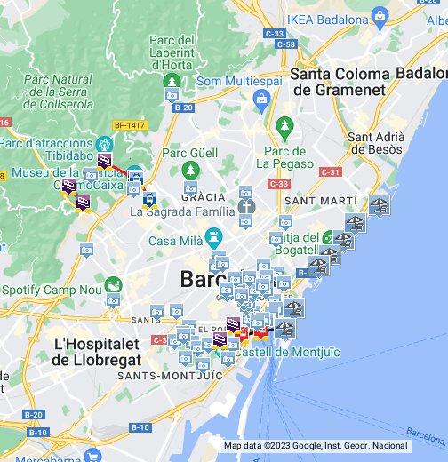 Barcelona Sehenswürdigkeiten Karte.Barcelona Sehenswürdigkeiten Google My Maps