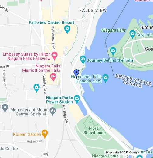 Map Niagara Canada Niagara Falls Canada   Google My Maps