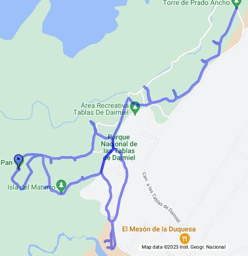 Tablas De Daimiel Mapa.Parque Nacional Tablas De Daimiel Google My Maps