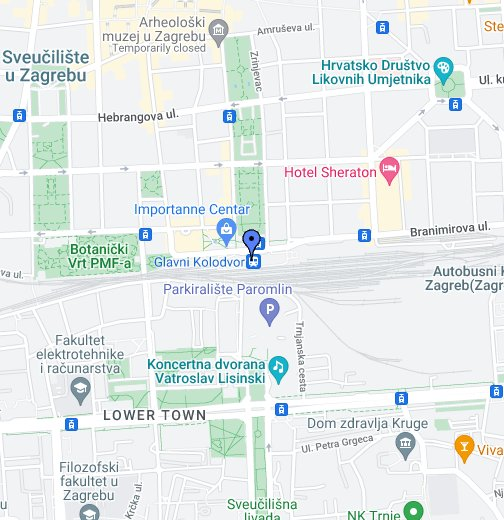 Glavni Kolodvor Google My Maps