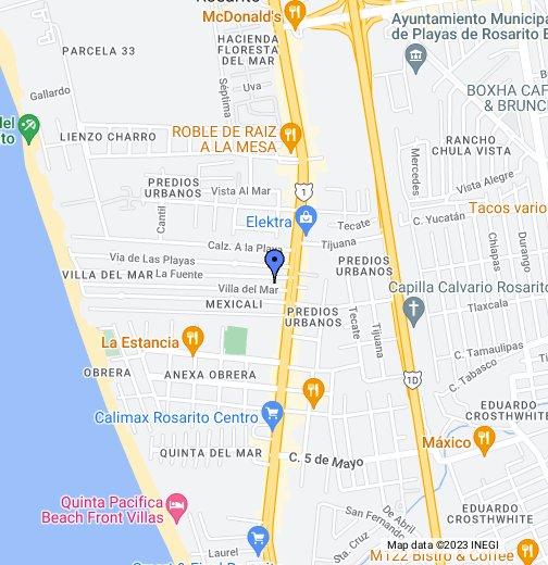 Rosarito, Baja California Mexico   Google My Maps