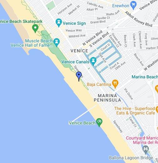 South Venice Beach Volleyball Nets - Venice beach boardwalk map