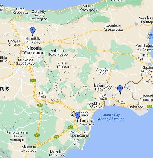 Map Of Cyprus Google My Maps