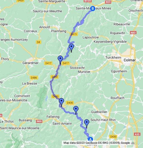 Route des crêtes dans les Vosges