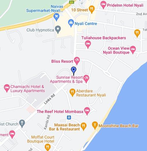 Map Of Mombasa Town Mombasa   Google My Maps