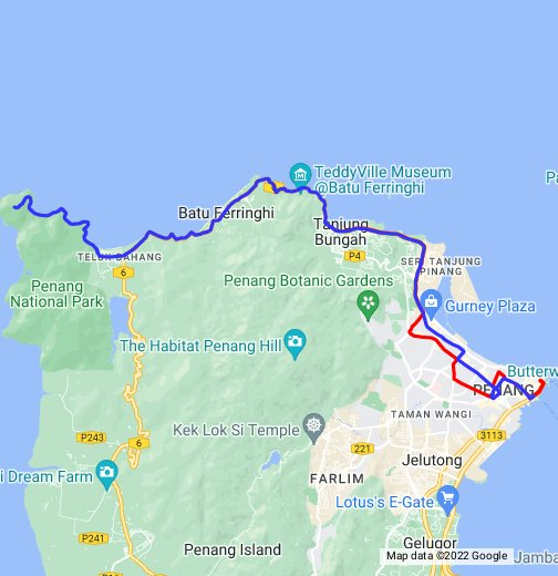 Map of Rapid Penang Bus Route 101 - Google My Maps