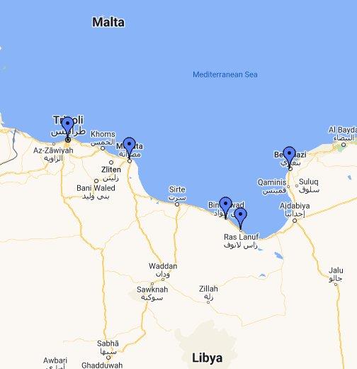 Libya - Google My Maps