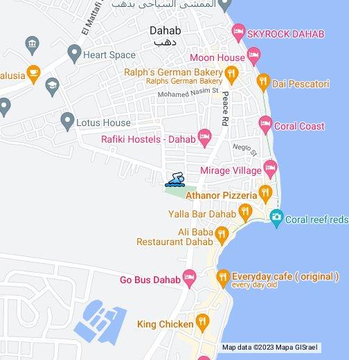 Dahab - Map of egypt dahab