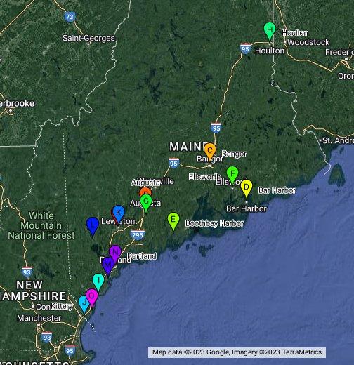 Maine Usa Google My Maps