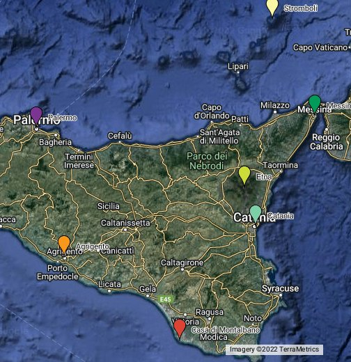 Sicily Google My Maps