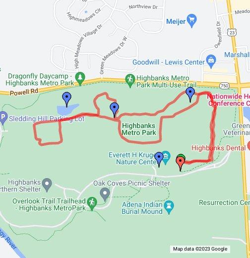 Coyote Run Trail Highbanks Metro Park