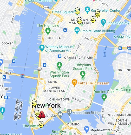 Map Of Wall Street - Chase bank locations map