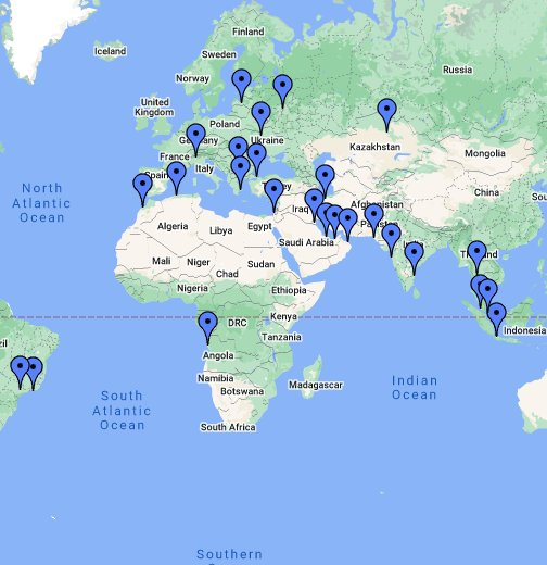 World Map - Google My Maps