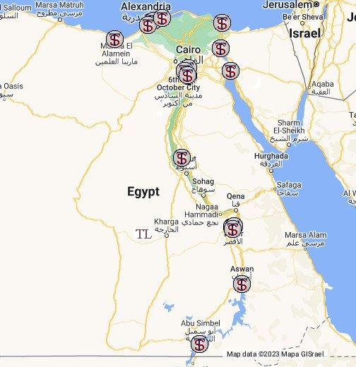 Alexandria Egypt World Map